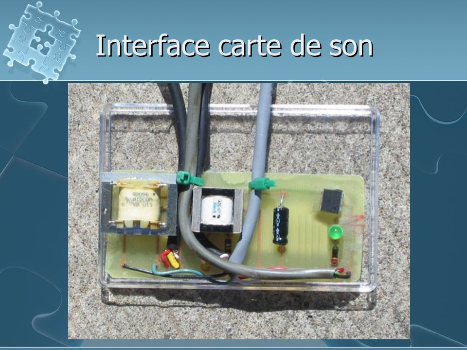 Interface carte de son