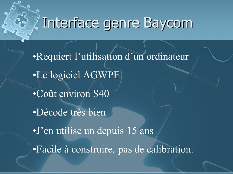 Interface genre Baycom