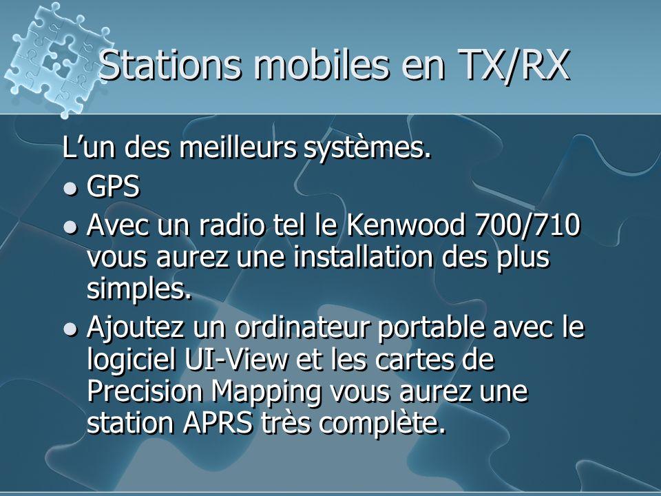 Stations mobiles en TX/RX