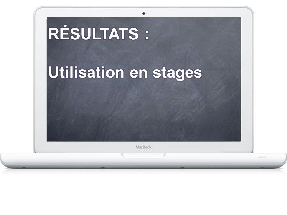 RÉSULTATS : Utilisation en stages