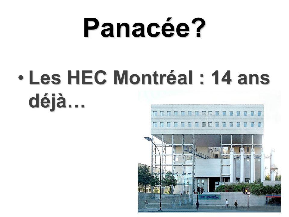 Panacée Les HEC Montréal : 14 ans déjà…