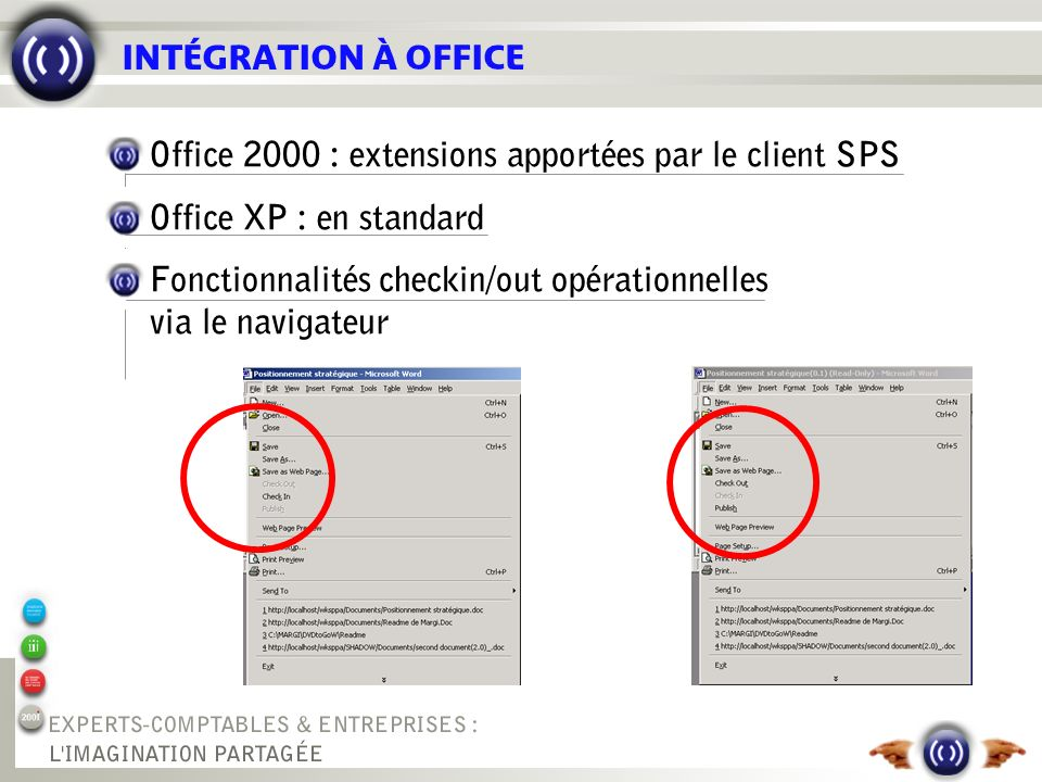 GESTION DOCUMENTAIRE Gestion de version Check In/Check Out