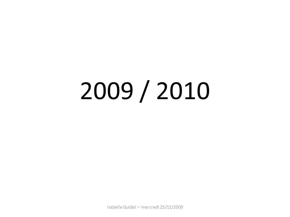 Isabelle Guidat – mercredi 25/11/2009