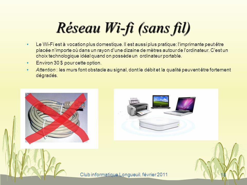 Réseau Wi-fi (sans fil)