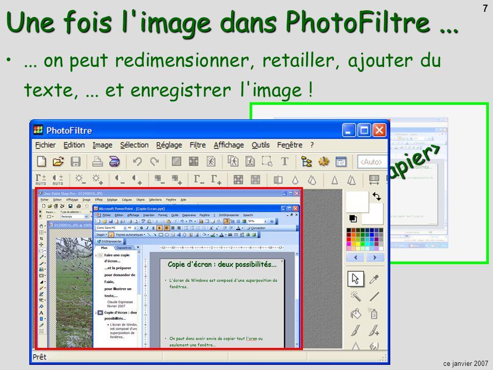 Une fois l image dans PhotoFiltre ...