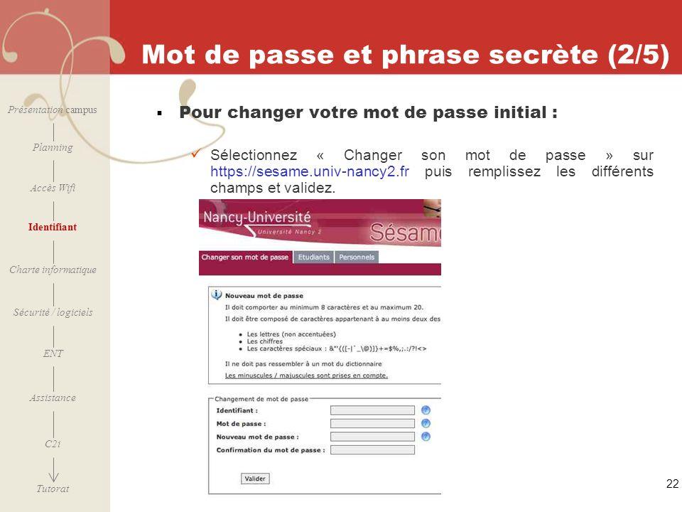 Mot de passe et phrase secrète (2/5)