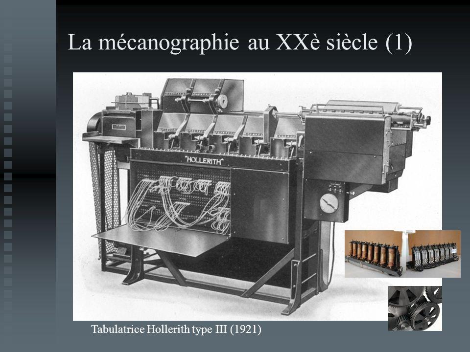 La mécanographie au XXè siècle (1)