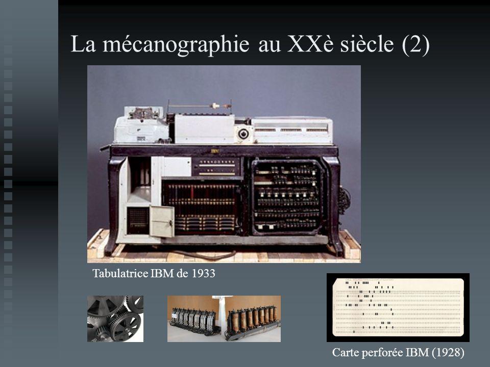 La mécanographie au XXè siècle (2)