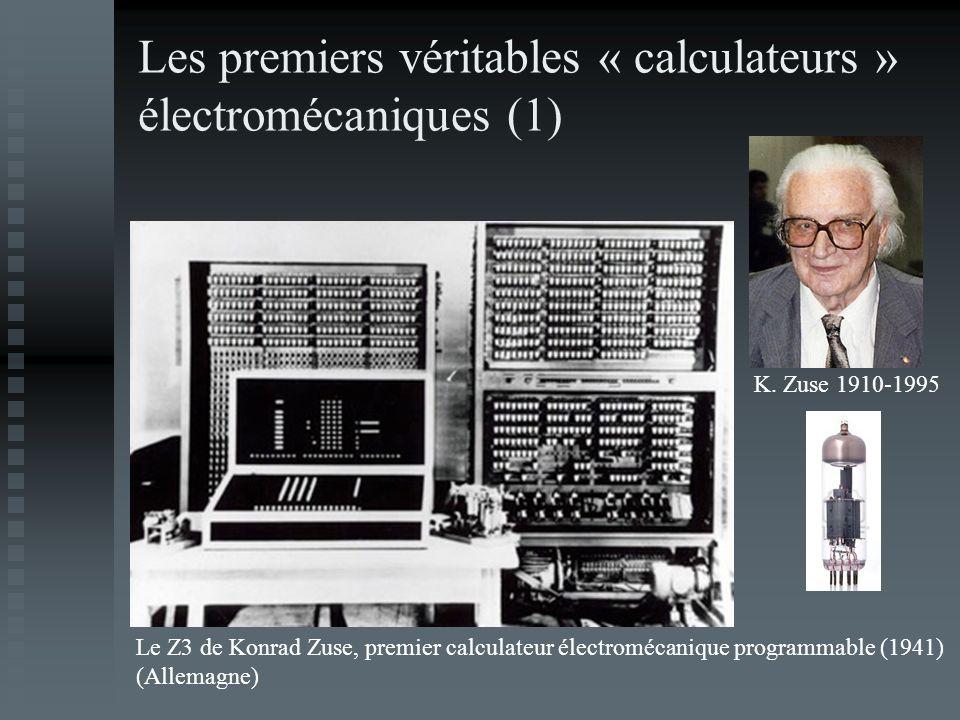 Les premiers véritables « calculateurs » électromécaniques (1)