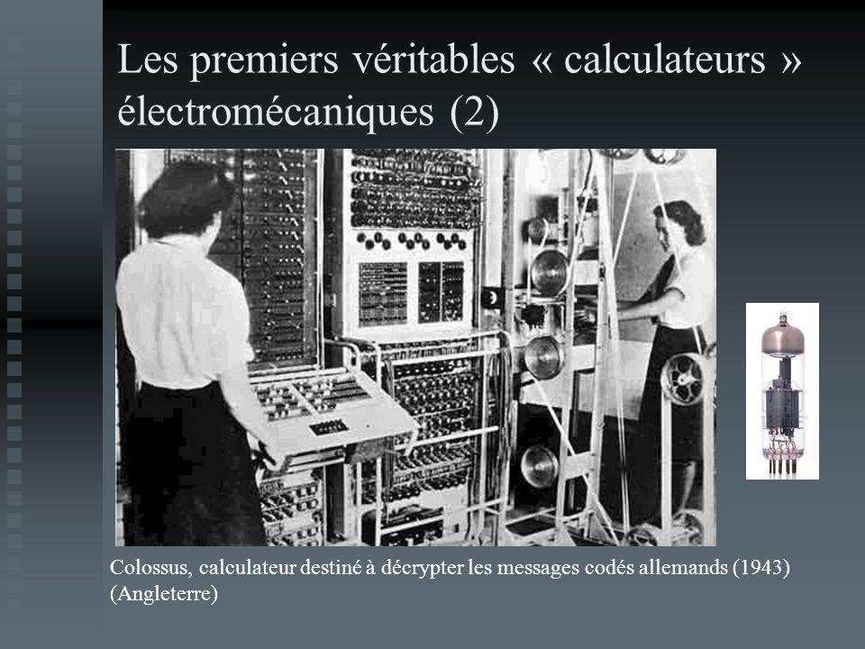Les premiers véritables « calculateurs » électromécaniques (2)