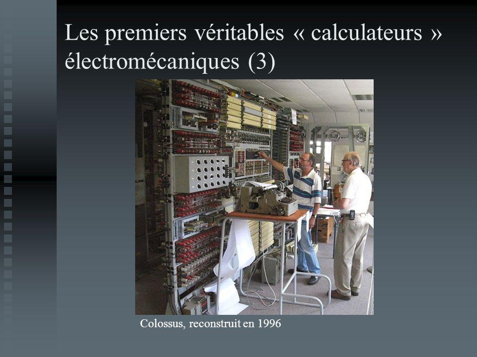 Les premiers véritables « calculateurs » électromécaniques (3)