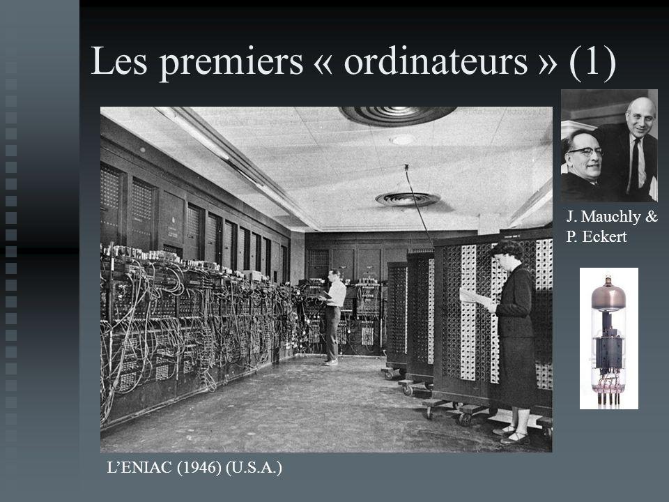 Les premiers « ordinateurs » (1)