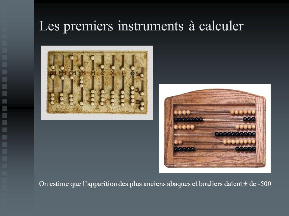 Les premiers instruments à calculer