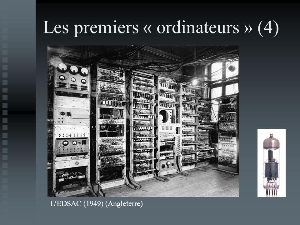 Les premiers « ordinateurs » (4)
