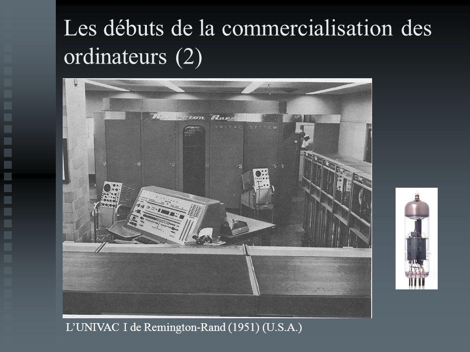 Les débuts de la commercialisation des ordinateurs (2)