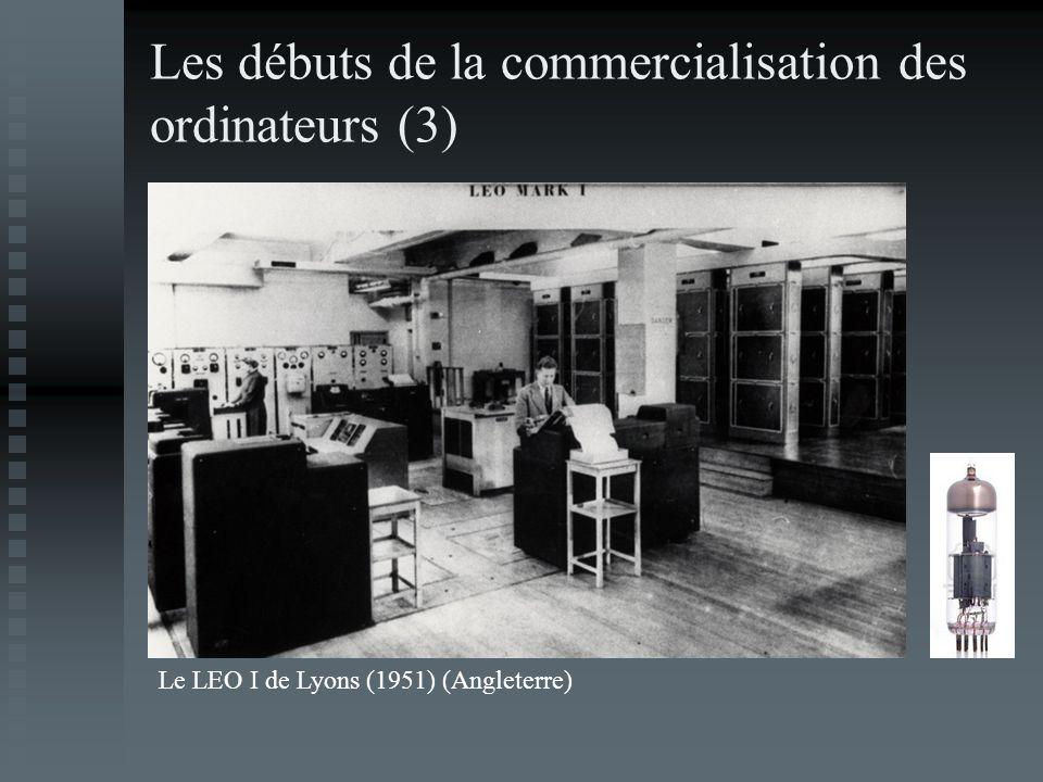 Les débuts de la commercialisation des ordinateurs (3)