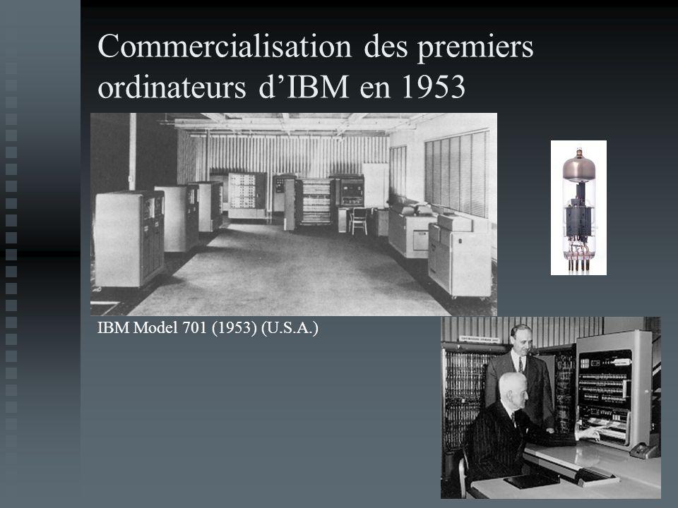 Commercialisation des premiers ordinateurs d'IBM en 1953