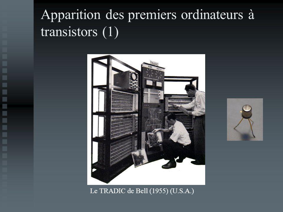 Apparition des premiers ordinateurs à transistors (1)