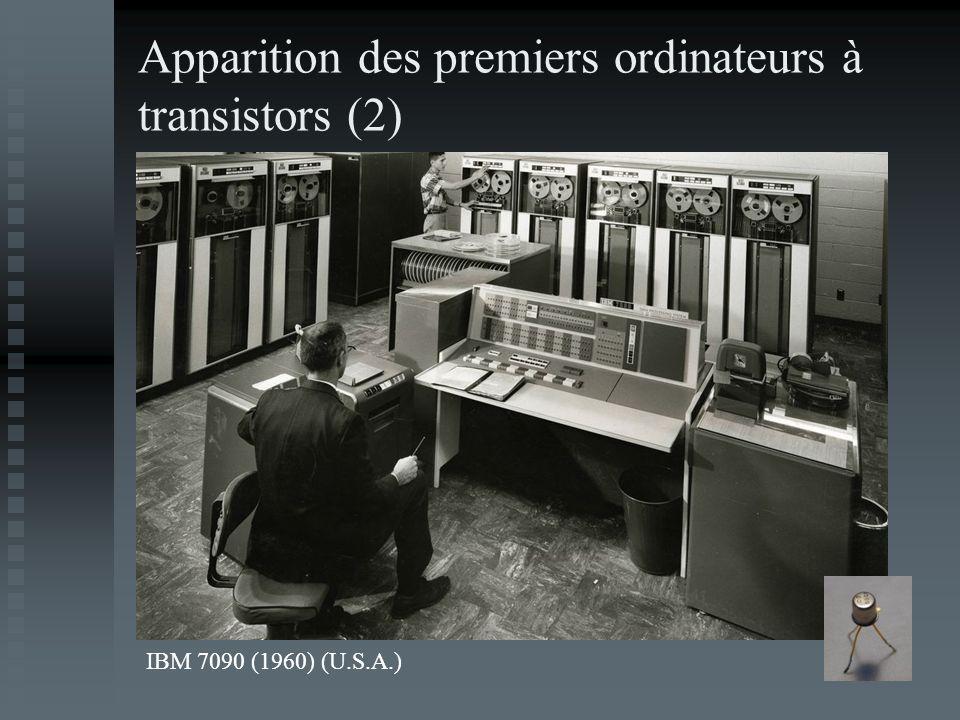 Apparition des premiers ordinateurs à transistors (2)