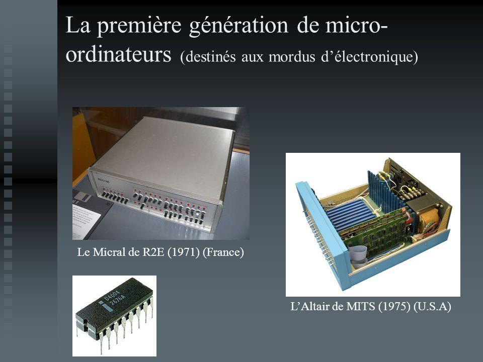 La première génération de micro-ordinateurs (destinés aux mordus d'électronique)