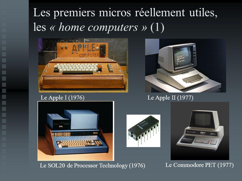 Les premiers micros réellement utiles, les « home computers » (1)