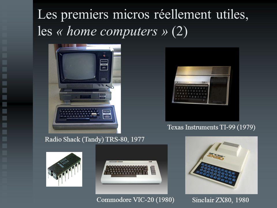 Les premiers micros réellement utiles, les « home computers » (2)