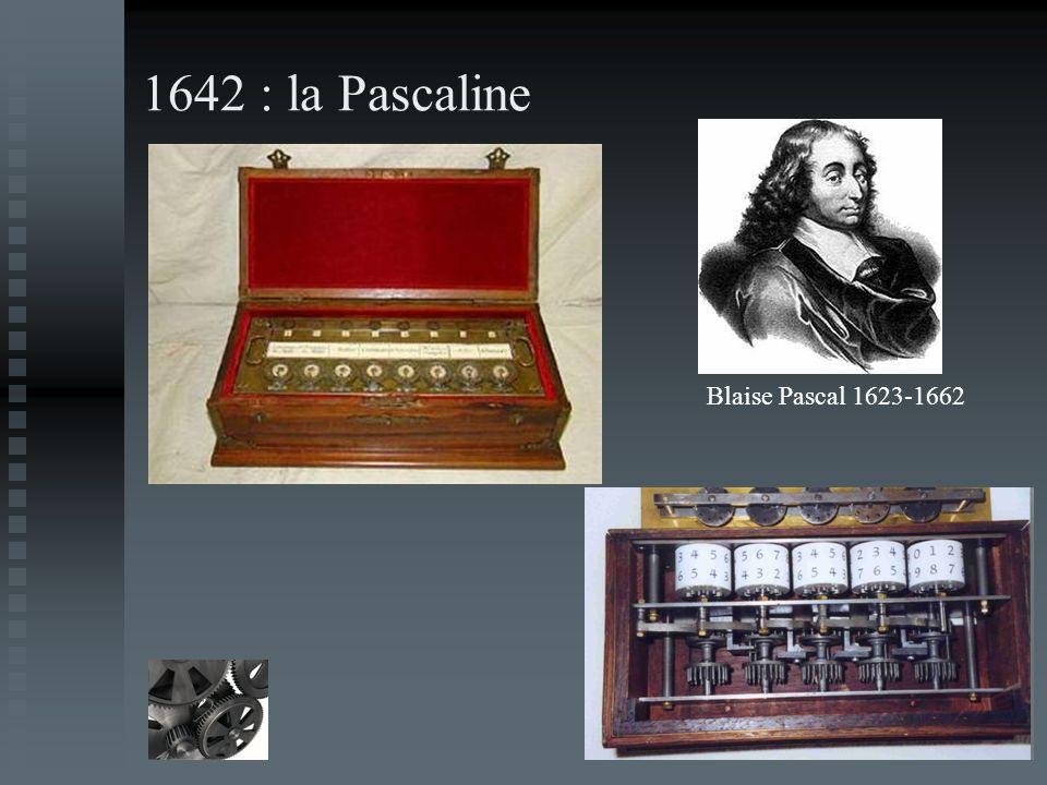 1642 : la Pascaline Blaise Pascal 1623-1662