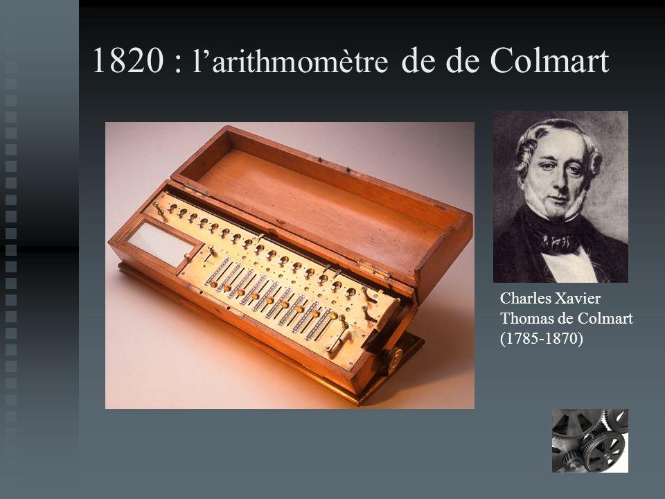 1820 : l'arithmomètre de de Colmart