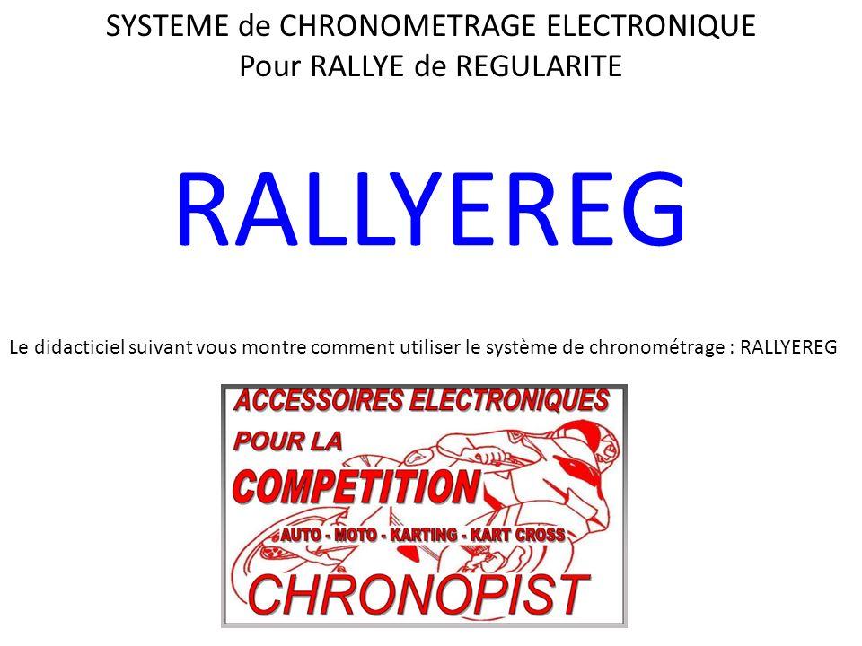 RALLYEREG SYSTEME de CHRONOMETRAGE ELECTRONIQUE