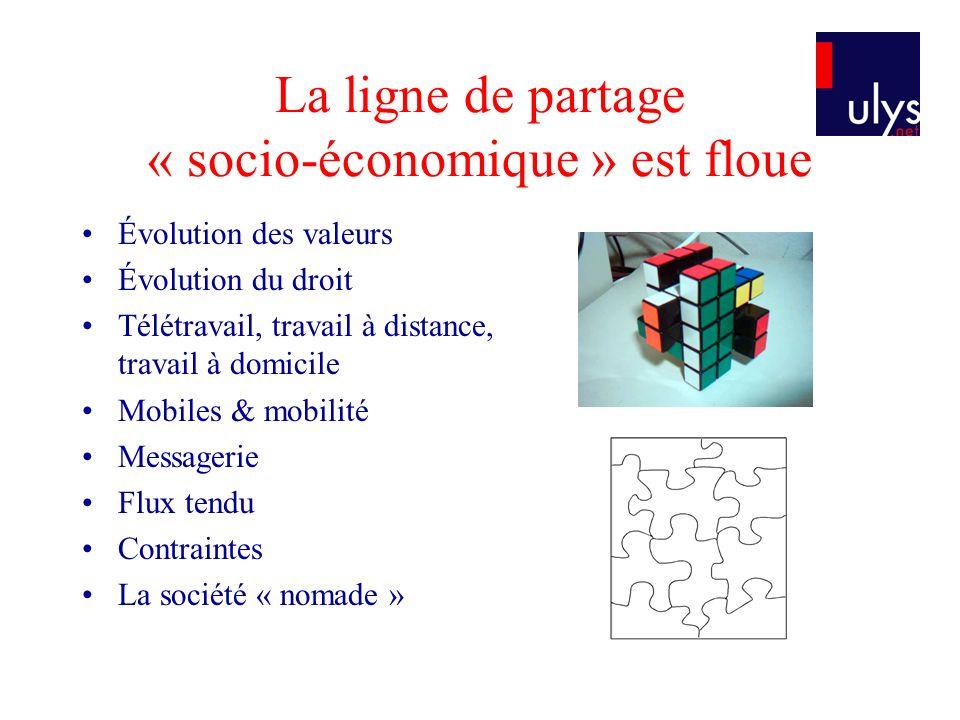 La ligne de partage « socio-économique » est floue