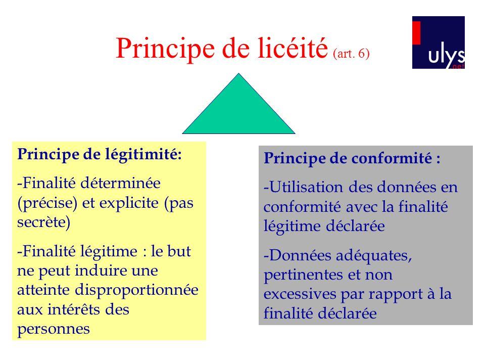 Principe de licéité (art. 6)