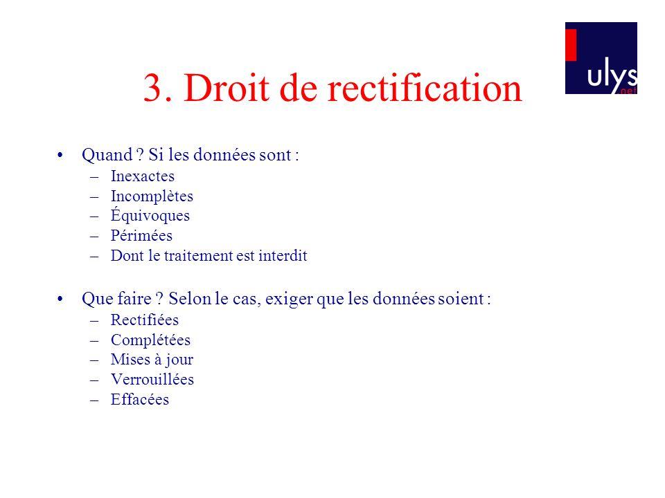 3. Droit de rectification