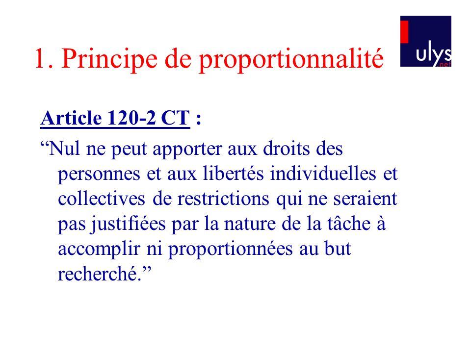 1. Principe de proportionnalité