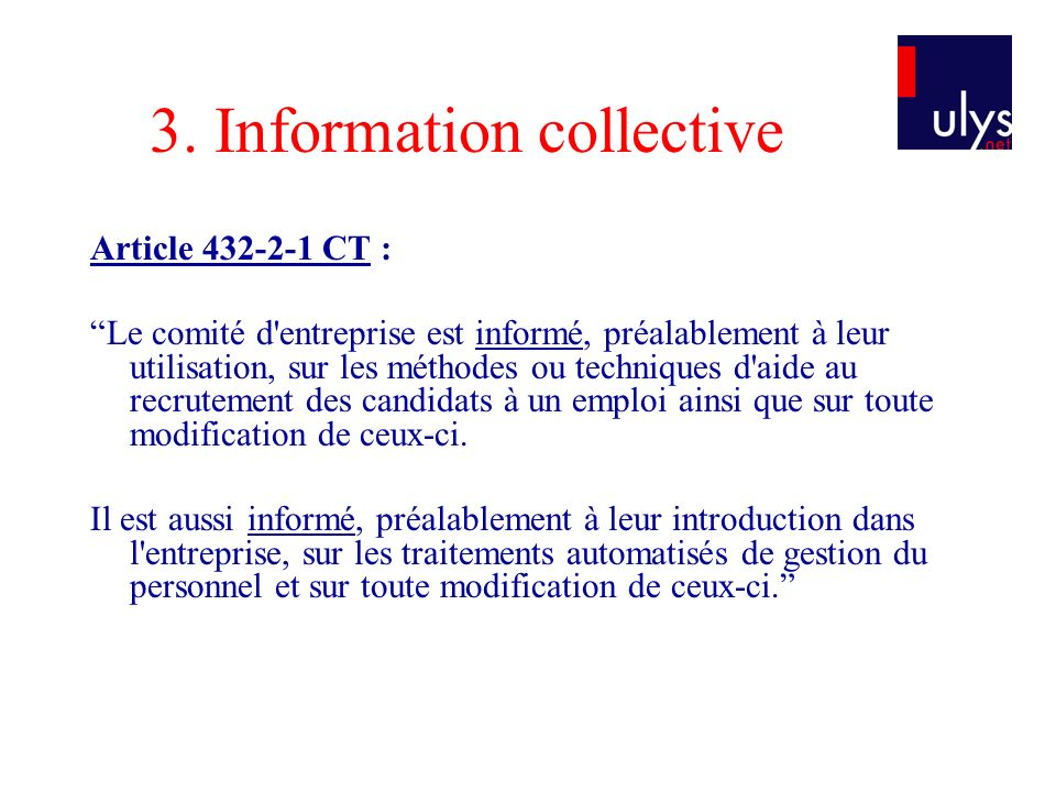 3. Information collective