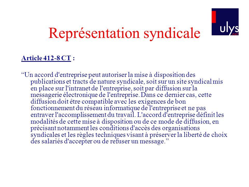 Représentation syndicale