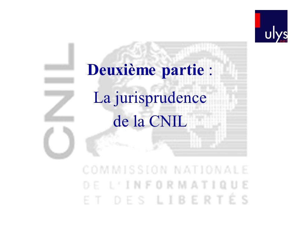 La jurisprudence de la CNIL