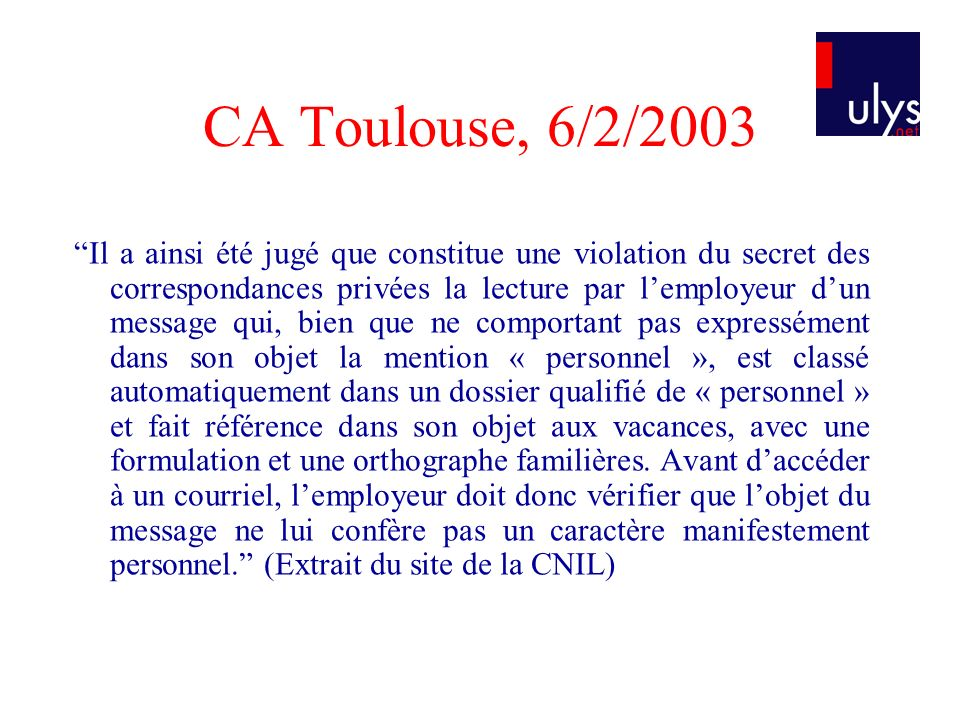CA Toulouse, 6/2/2003