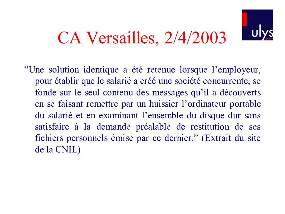 CA Versailles, 2/4/2003