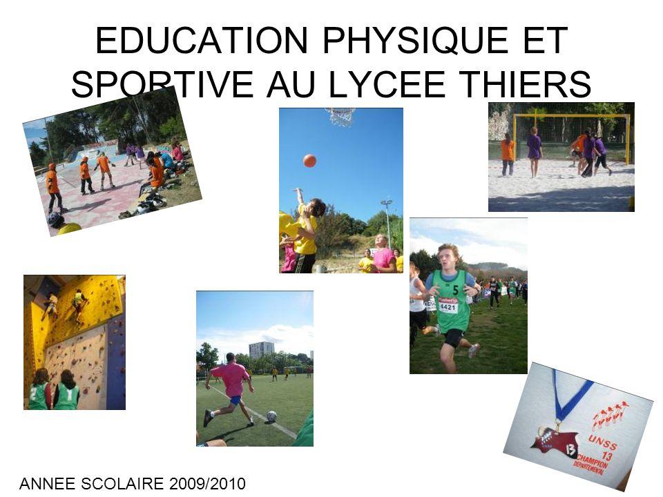 EDUCATION PHYSIQUE ET SPORTIVE AU LYCEE THIERS