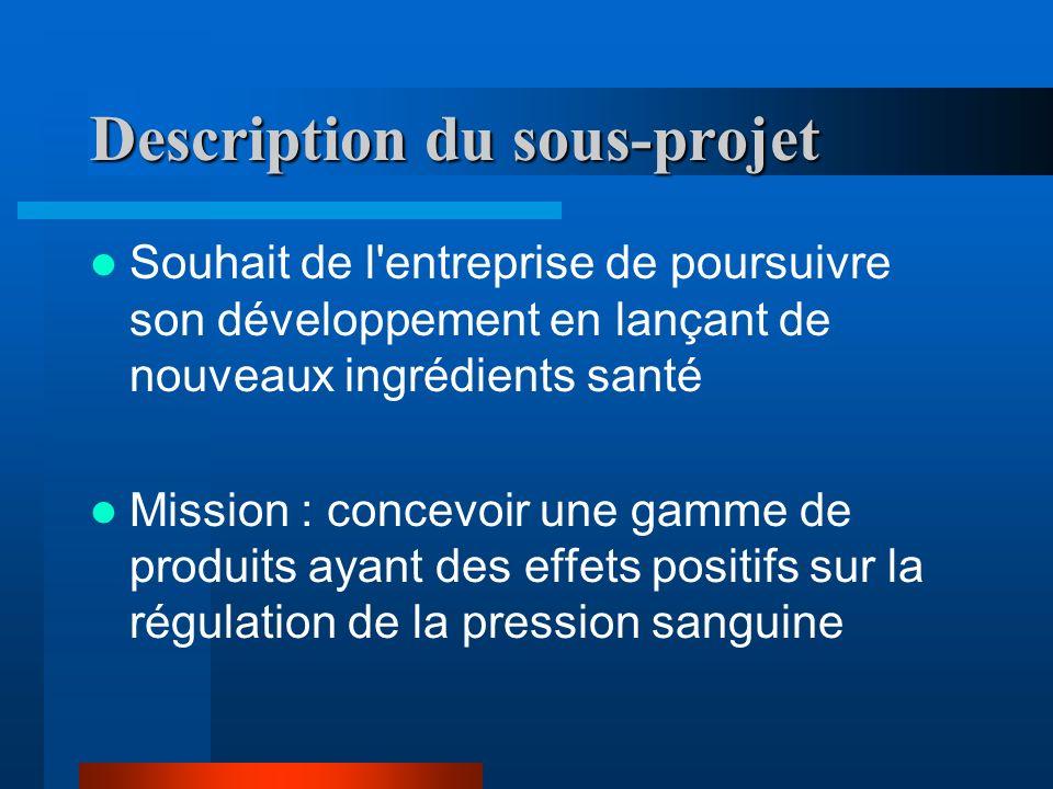 Description du sous-projet