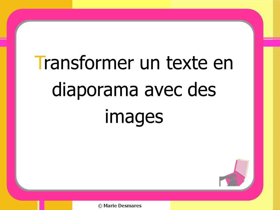 Transformer un texte en diaporama avec des images
