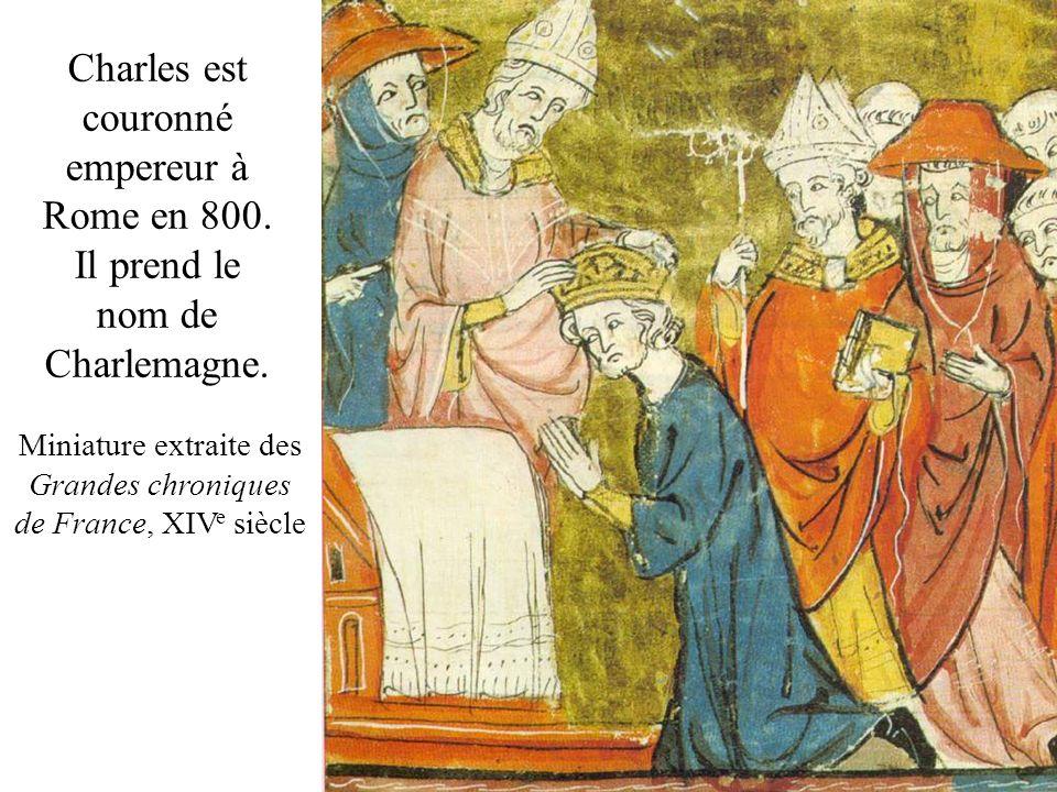 Miniature extraite des Grandes chroniques de France, XIVe siècle