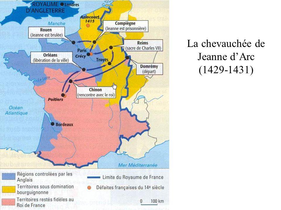 La chevauchée de Jeanne d'Arc (1429-1431)