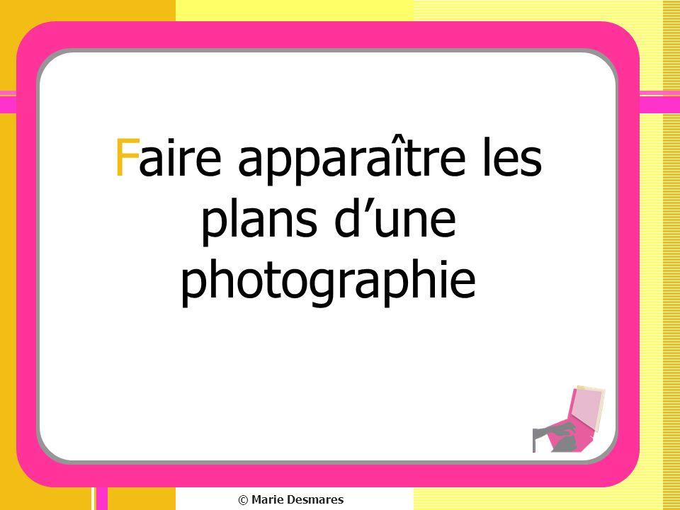 Faire apparaître les plans d'une photographie