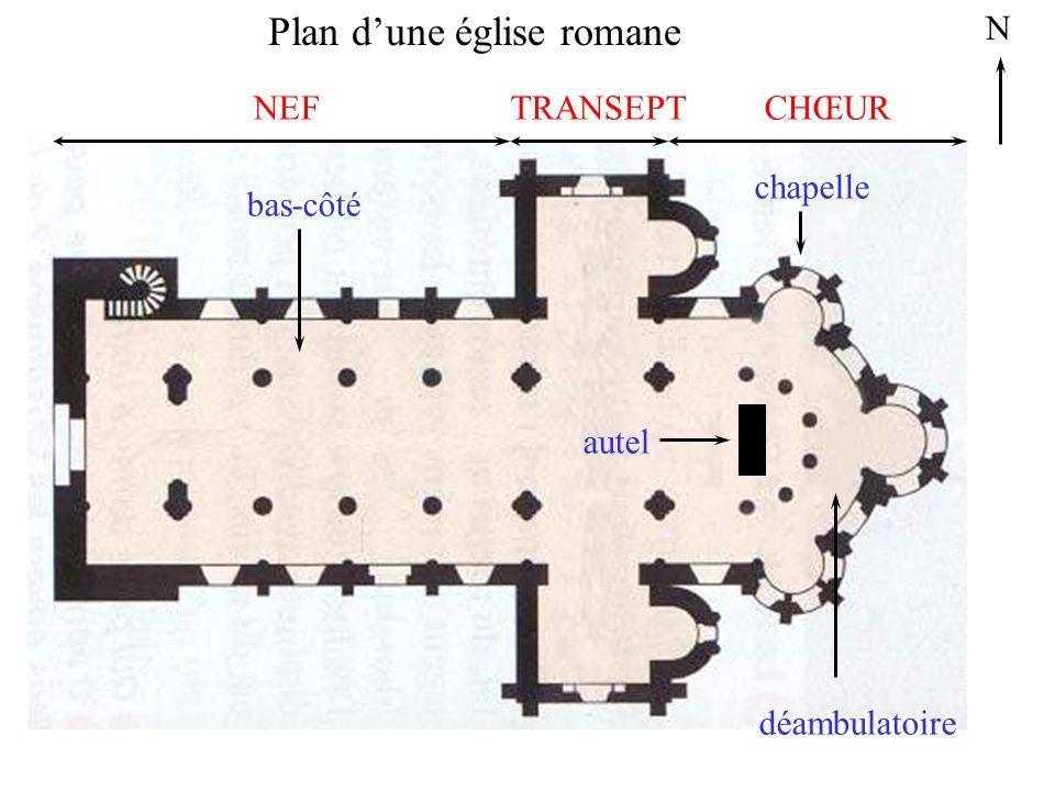 Plan d'une église romane