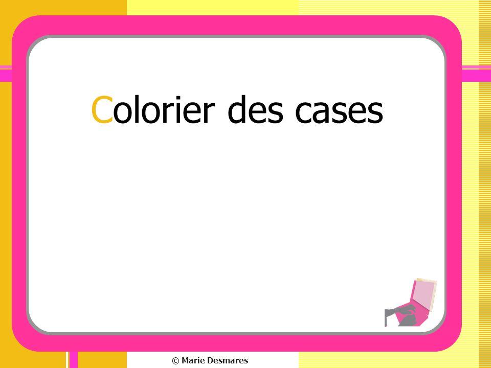 Colorier des cases © Marie Desmares