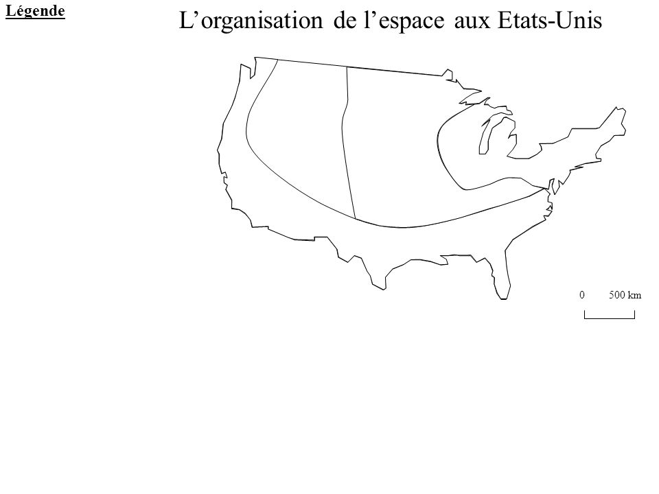 L'organisation de l'espace aux Etats-Unis