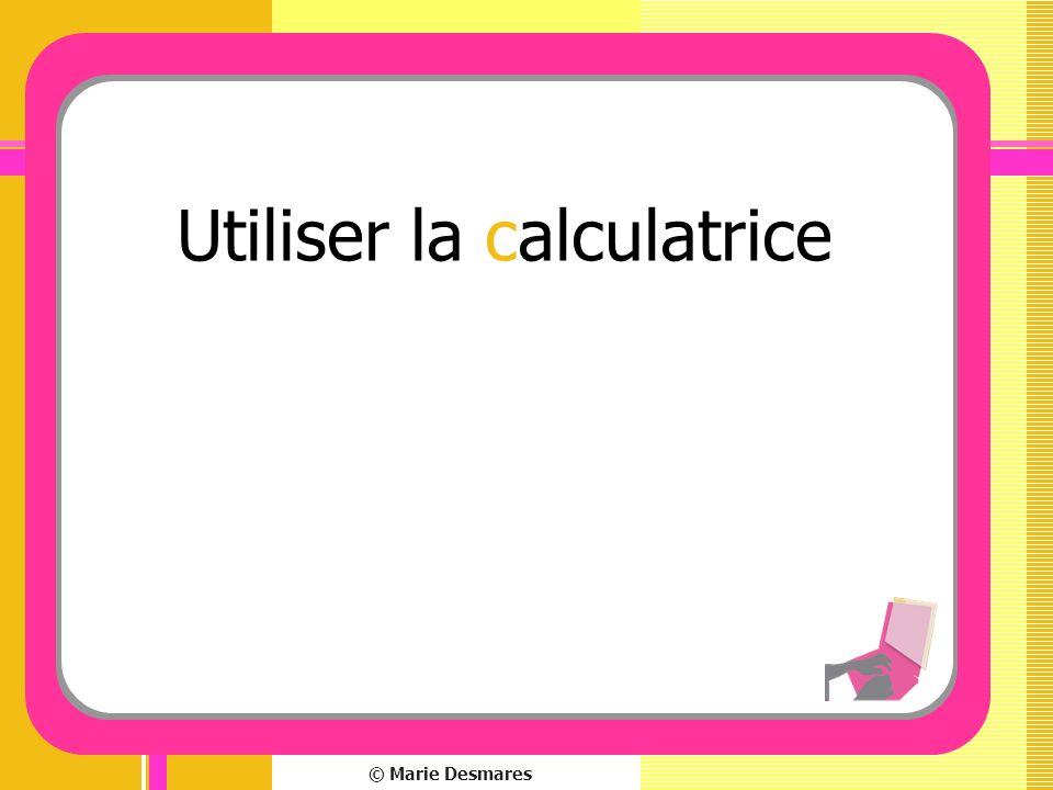 Utiliser la calculatrice