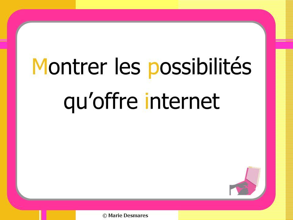 Montrer les possibilités qu'offre internet