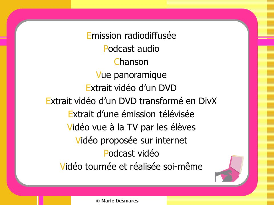 Emission radiodiffusée Podcast audio Chanson Vue panoramique